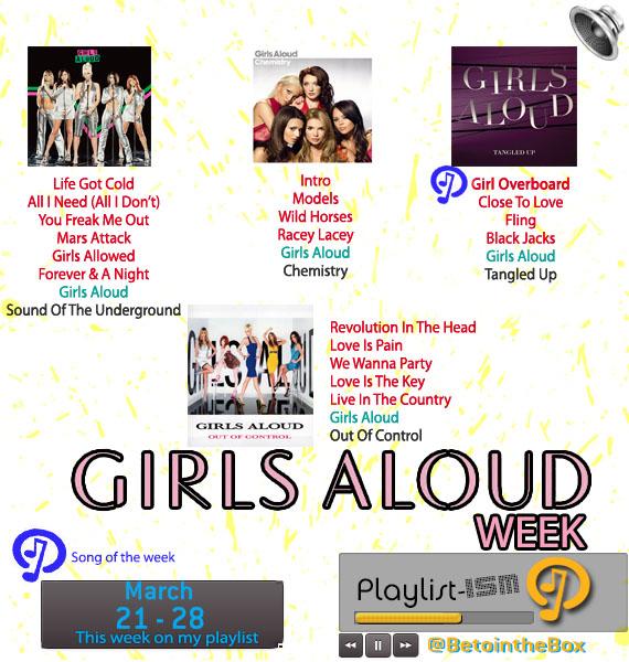 March 21 - 28 Girls Aloud Week